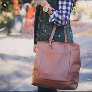 J Crew All Day Tote In Roasted Chestnut
